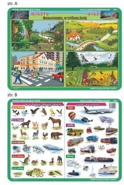 Podkładka edu. 002 -Miasto i wieś, środki trans...