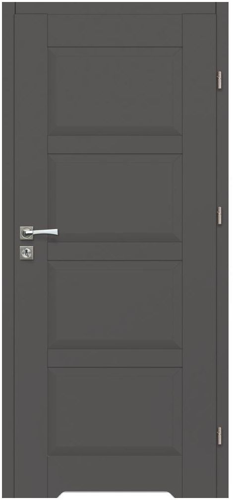 Skrzydło drzwiowe z podcięciem wentylacyjnym Lido Grafitowe 90 Prawe Artens