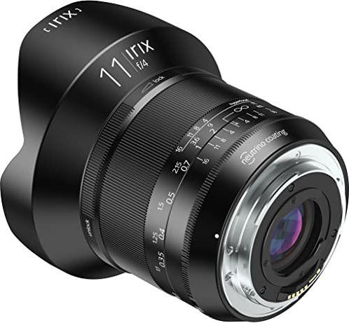 """Irix IL-11BS-NF obiektyw ultraszerokokątny Blackstone 11 mm""""f4"""" do Nikon F (pełnoklatkowy, podświetlany napis, zoptymalizowany pierścień ogniskowy), czarny"""