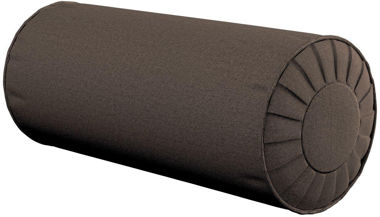Poduszka wałek z zakładkami, brązowy, Ø20  50 cm, Etna