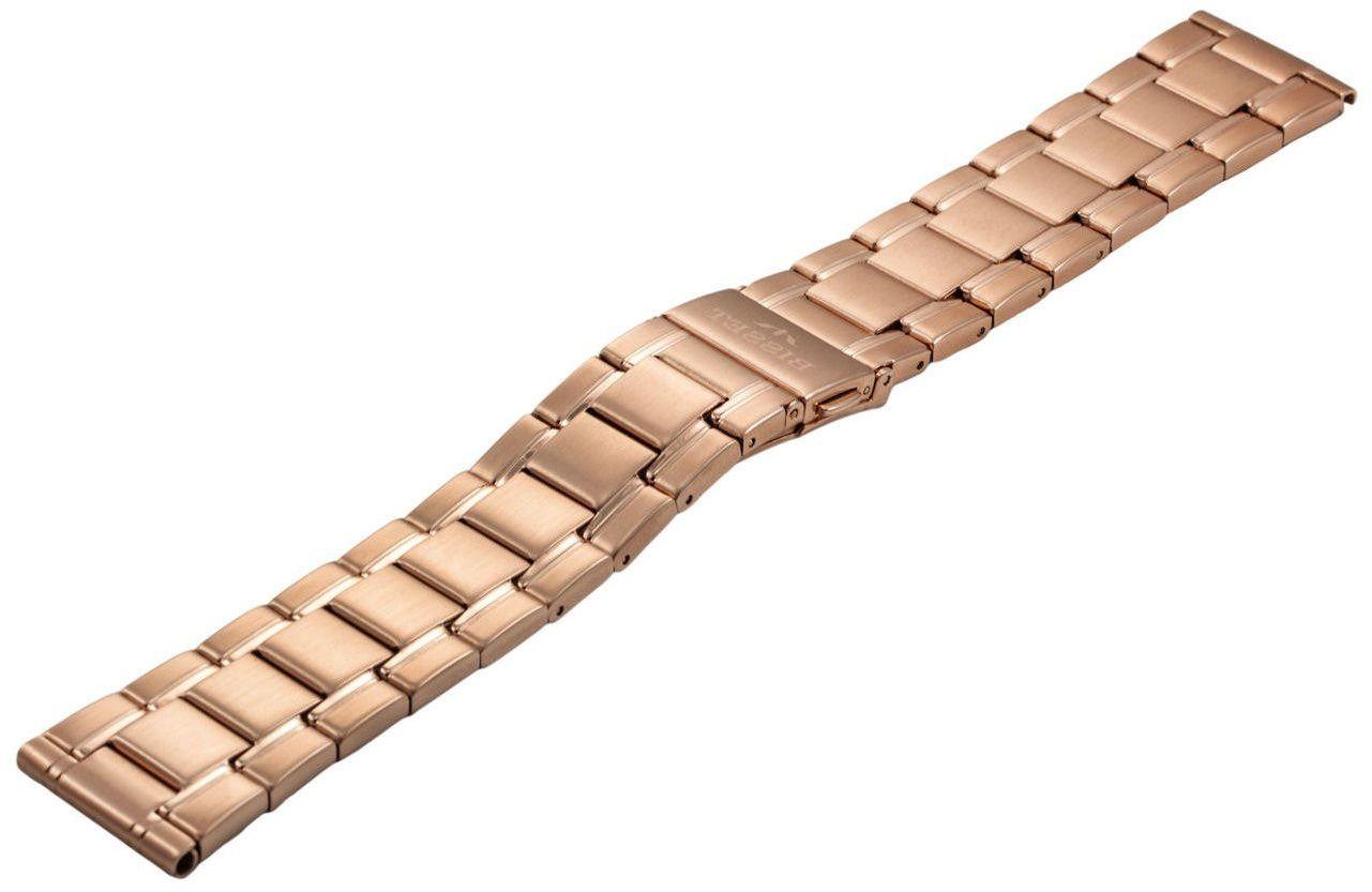 Bransoleta stalowa do zegarka 22 mm BR-125/22 Rose