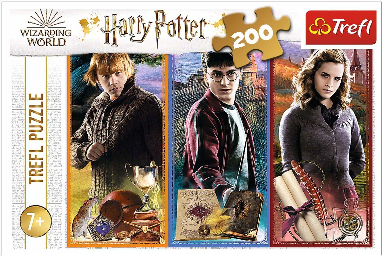 Trefl W Świecie Magii i Czarów Puzzle 200 Elementów o Wysokiej Jakości Nadruku dla Dzieci od 7 lat