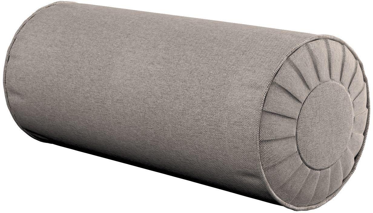 Poduszka wałek z zakładkami, beżowo-szary, Ø20  50 cm, Etna