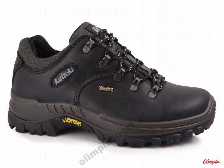 Buty trekkingowe Kaiteki 10309 skórzane czarne
