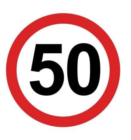Karnet pamiątkowy na 50 urodziny Znak