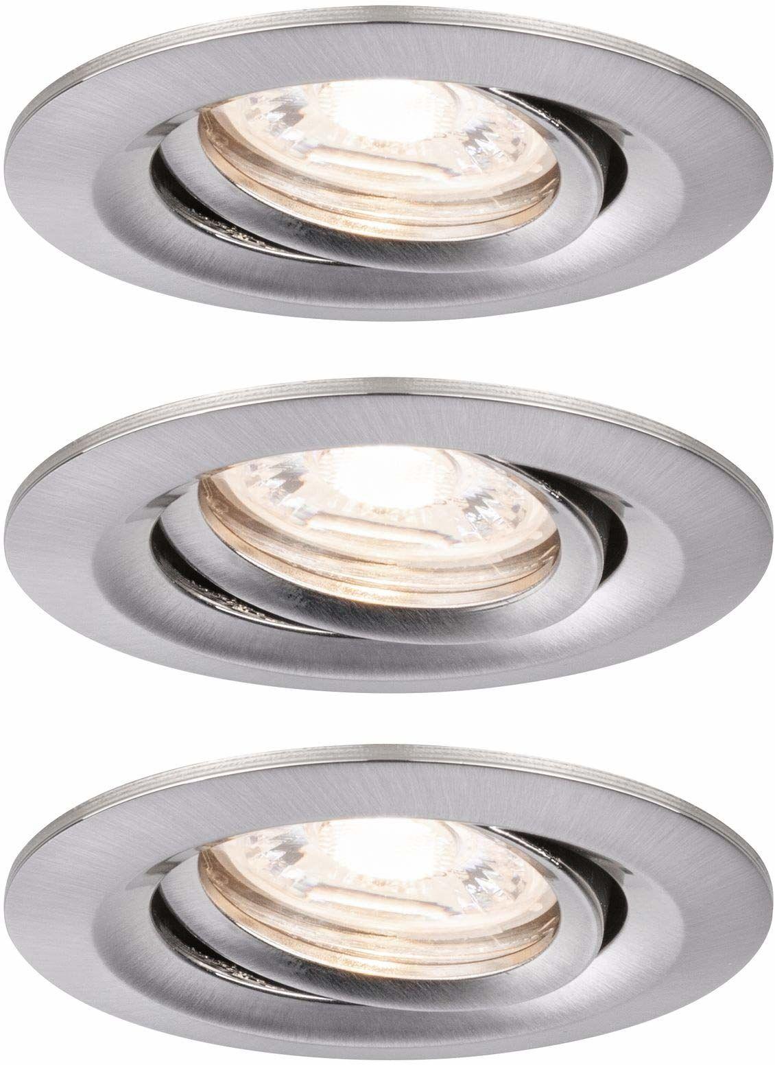 Paulmann 94295 Nova Mini LED oprawa do zabudowy Coin, okrągła, wychylna, 3x4W, 2700K