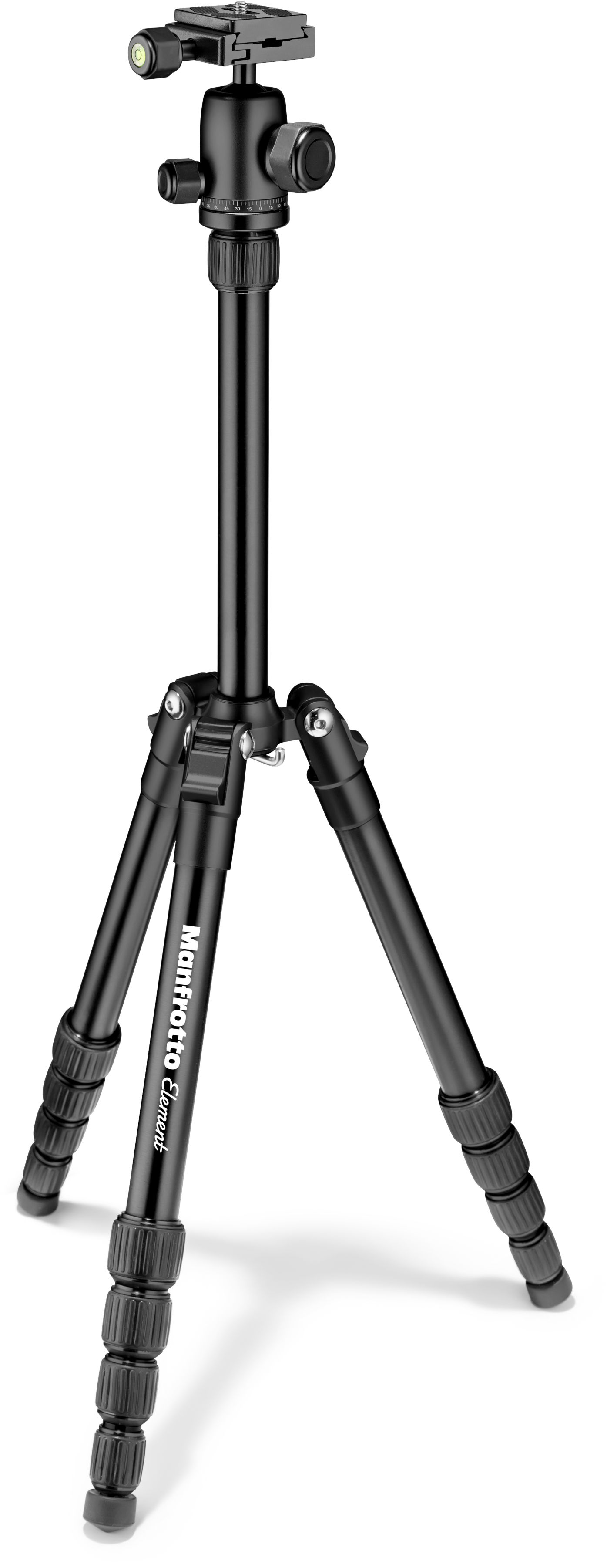 Manfrotto MKELES5BK-BH - statyw Traveller Small 5-sekcyjny, seria Element, czarny Manfrotto MKELES5BK-BH Element Traveller Small