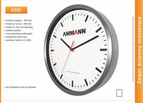 Zegar reklamowy ze stali nierdzewnej /300mm