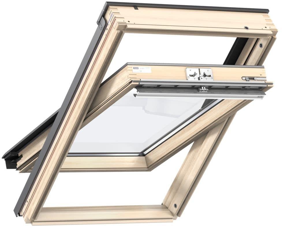 Okno obrotowe 3-szybowe GLL 1064 VELUX z górnym otwieraniem