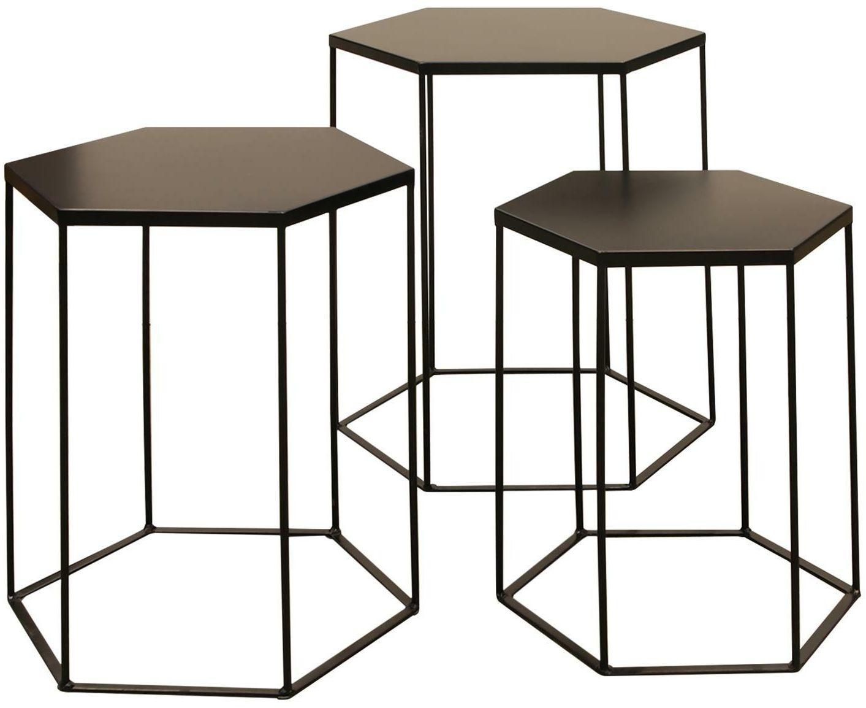 Zestaw stolików KALLIS czarny