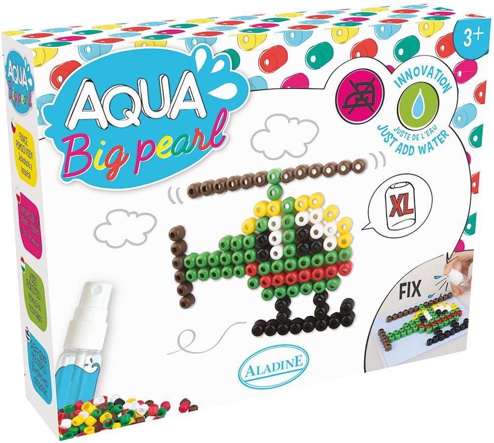 Aladine Innowacje 47084 Aqua Pearl Jumbo Wszystkie kreacje są obsługiwane wyłącznie za pomocą wodnego helikoptera i są bezpieczne. Ten zestaw jest odpowiedni dla dzieci od 3 roku życia