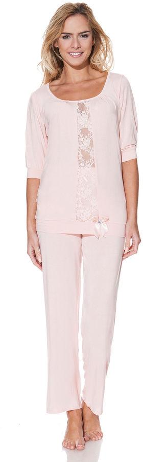 Damska bambusowa piżama SERENA Różowy XL