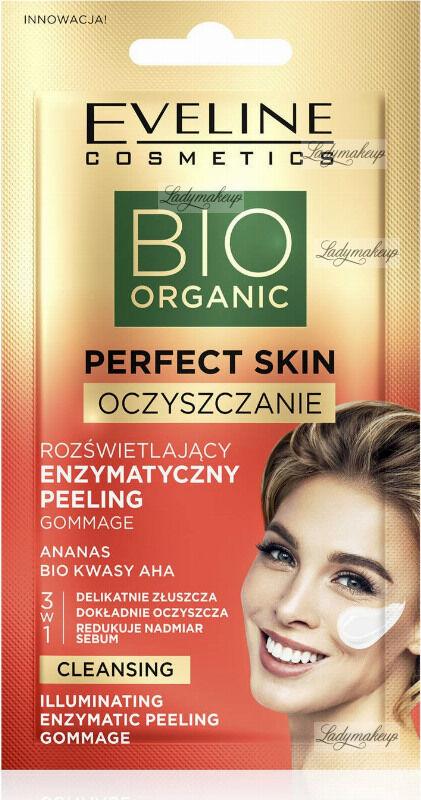 Eveline Cosmetics - BIO ORGANIC PERFECT SKIN - Illuminating Enzymatic Peeling Gommage - Rozświetlający enzymatyczny peeling gommage do twarzy - 8 ml