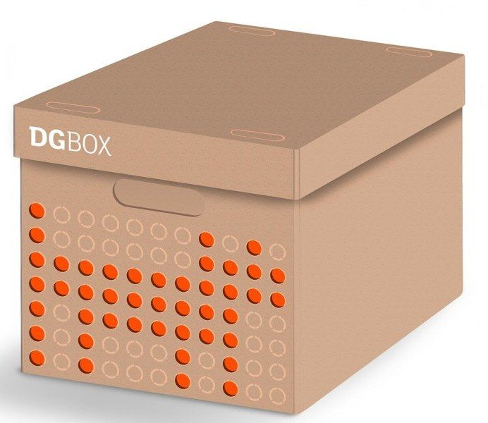 Pudełko kartonowe personalizowane MAXI DGBOX BEŻOWE