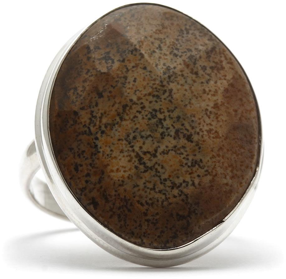 Kuźnia Srebra - Pierścionek srebrny, rozm. 15, Skamieniały Koral, 6g, model