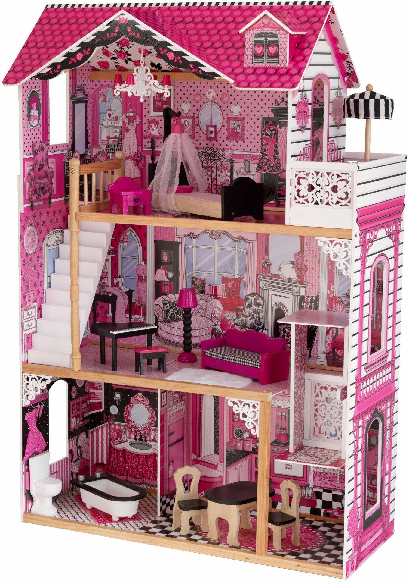 KidKraft 65093 domek dla lalek Amelia, wielokolorowy