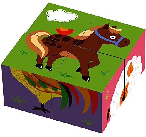 Viga 50835 Toys puzzle gospodarstwo budowlane Multi Color