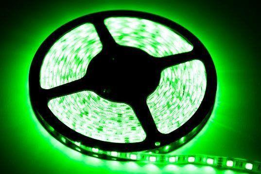 TAŚMA 60LED. 12W. Barwa: Zielony. IP65