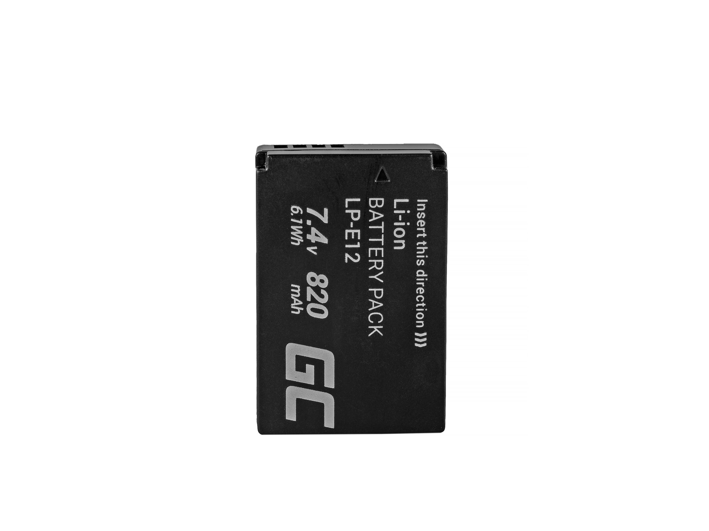 Akumulator Bateria Green Cell  LP-E12 LPE12 do Canon EOS 100D M M10 M2 M100 Rebel SL1 7.4V Full Decoded 7.4V 820mAh