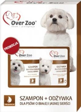 Zestaw Over Zoo Biała Sierść Szampon 250 ml + Odżywka 240 ml