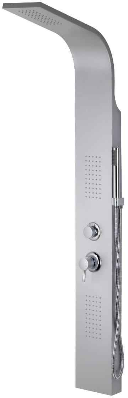 Corsan ALTO panel prysznicowy z mieszaczem AL017 RAL9006 gwiezdna szarość