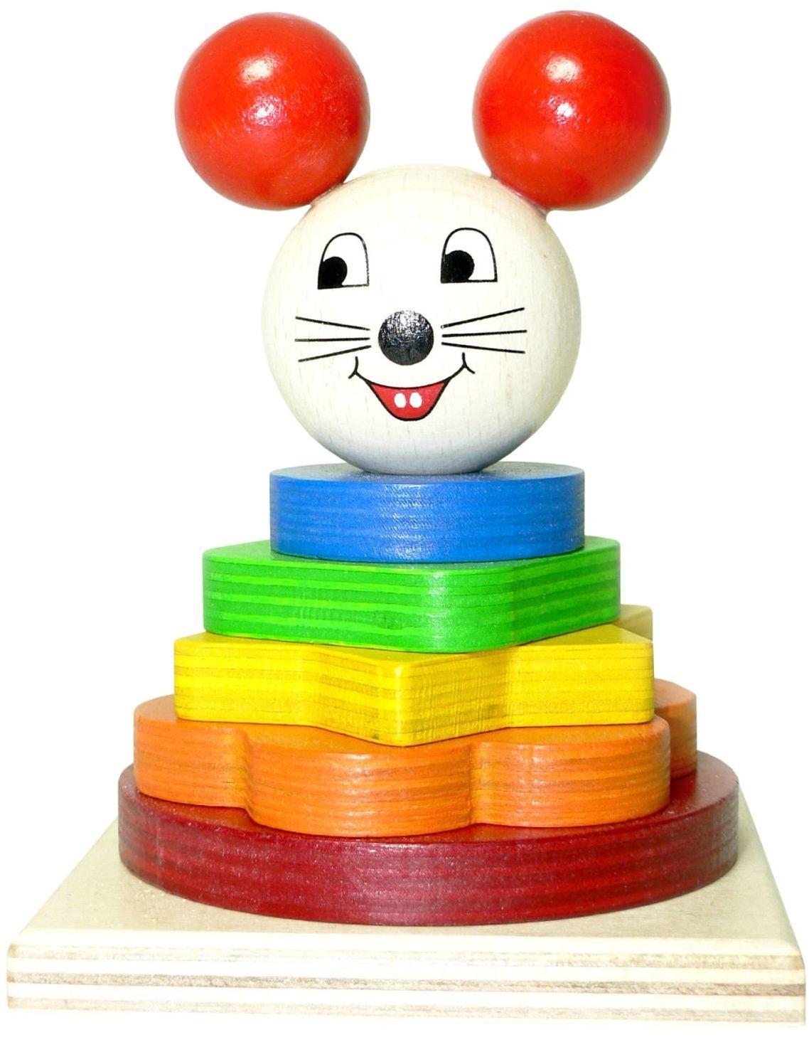 Hess Drewniana zabawka dla malucha 40 części wtyczka kolej