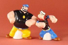 KOMPLET: SOLNICZKA I PIEPRZNICZKA - FIGURKI Marynarz Popeye & Brutus