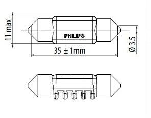 Żarówka, oświetlenie wnętrza PHILIPS 128596000KX1