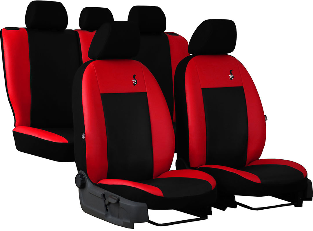 Pokrowce samochodowe do Ford Fusion van, Road, kolor czerwony