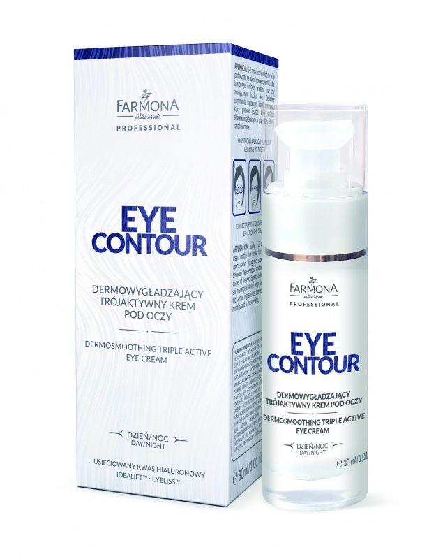 EYE CONTOUR Dermowygładzający trójaktywny krem pod oczy 30ml