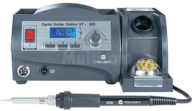 Stacja lutownicza Toolcraft ST-80D 80W 150-450 C