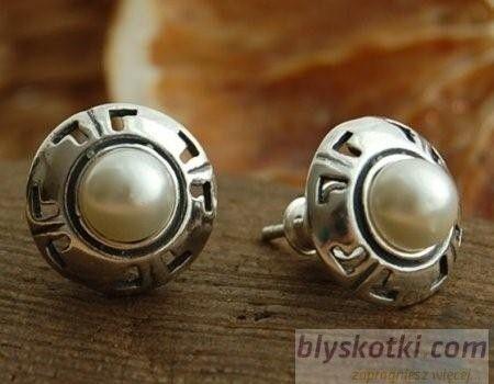 Doria - srebrne kolczyki kolczyki z perłą