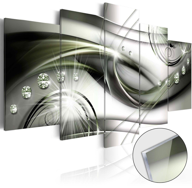 Obraz na szkle akrylowym - fala zielonego blasku [glass]