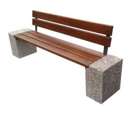 Ławka betonowa miejska parkowa Industry 3 ZO