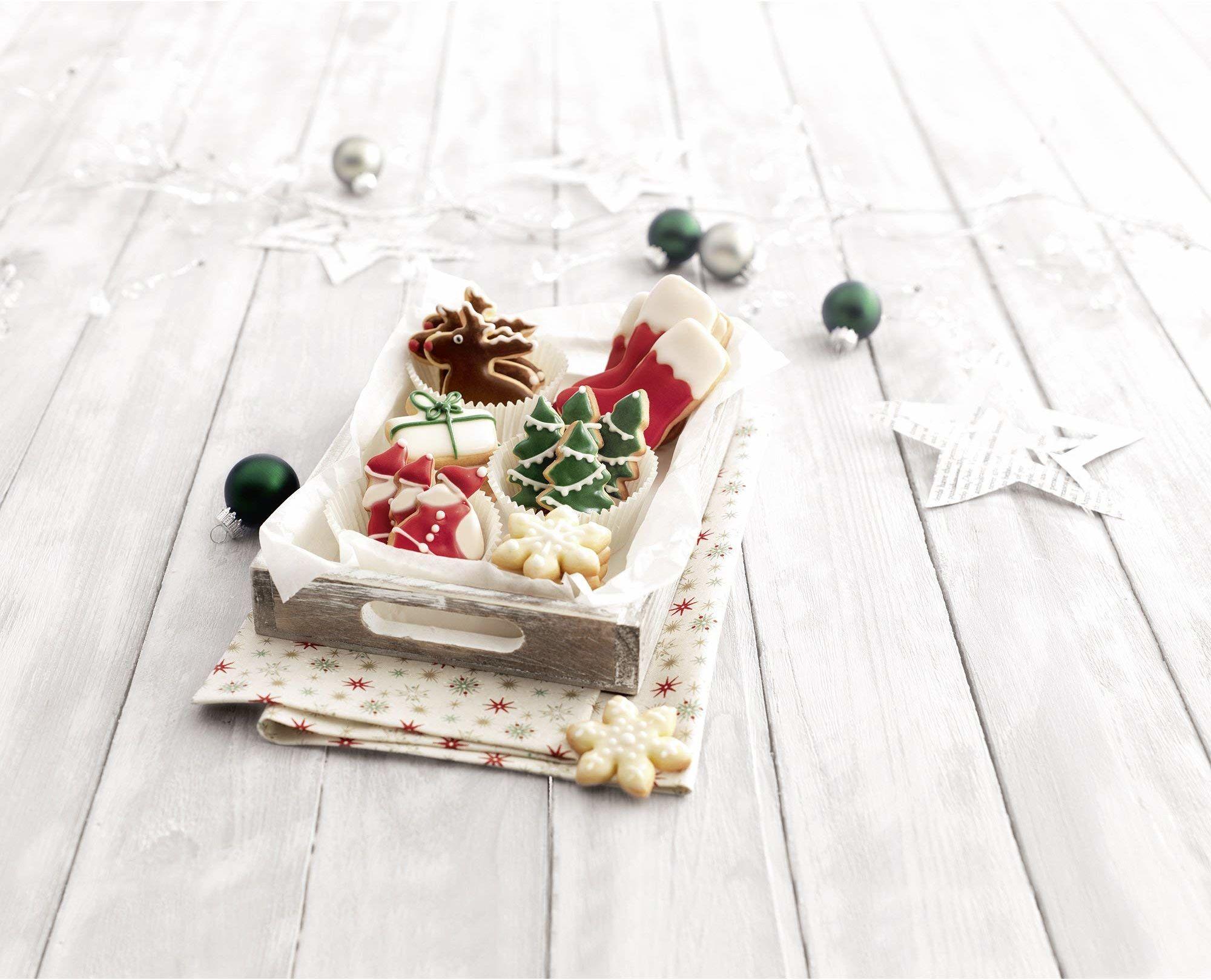 Kaiser Foremka do wykrawania ciastek gwiazda, 8-ramienna, 4 cm, Boże Narodzenie, jakość premium, łatwe i precyzyjne wykrawanie, bezpieczna, przyjemna obsługa