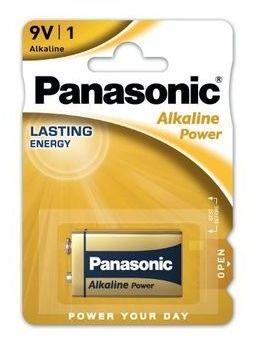 1 x Panasonic Alkaline Power 6LR61/9V (blister)
