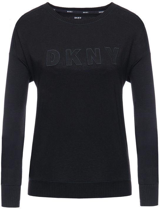 DKNY Bluzka YI3419330 Czarny Regular Fit
