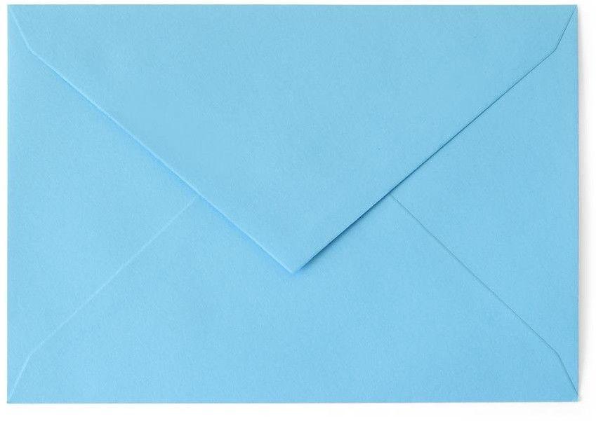 Koperta gładka kolorowa niebieska B6 10 sztuk w opakowaniu Argo Rabaty Porady Hurt