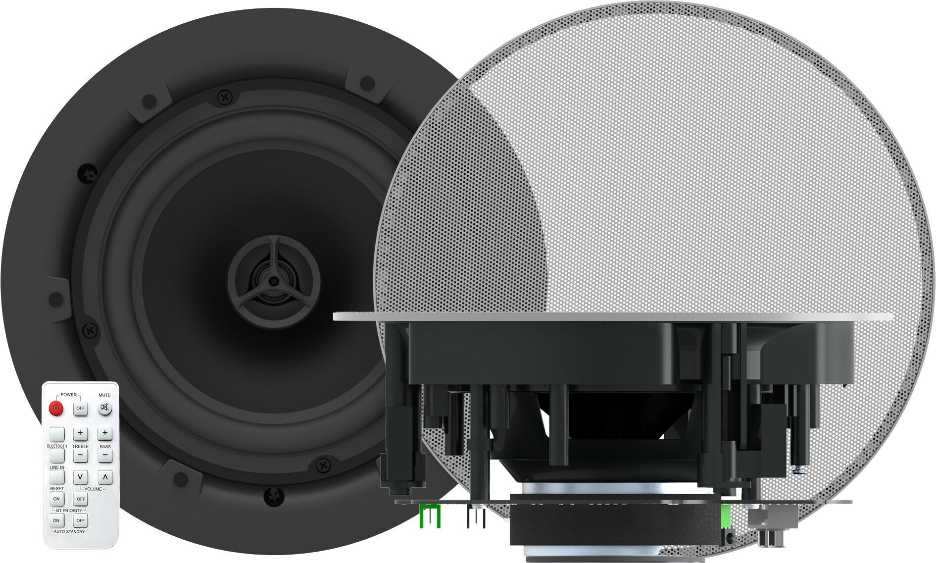Vision CS-1800P 2-drożne aktywne głośniki do zbudowy sufitowej Bluetooth 60W (Para)