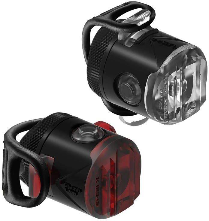 Zestaw lampek LEZYNE LED FEMTO USB DRIVE PAIR przód 15 lumenów czarna, tył 5 lumenów czarna