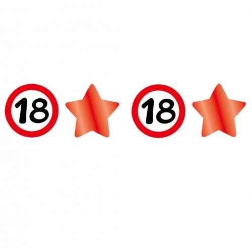 Girlanda znaki i gwiazdy na 18 urodziny Znak