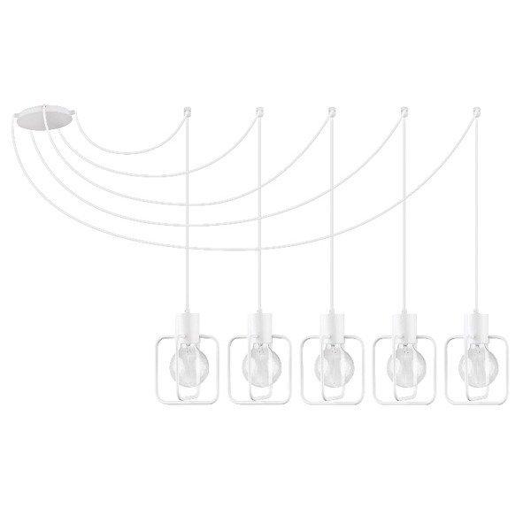 Lampa wisząca podwieszana AURA kwadrat V biała połysk