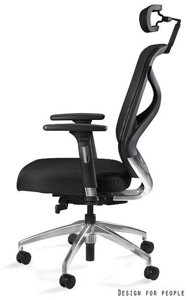 UNIQUE Fotel biurowy HERO czarny siatka+tkanina