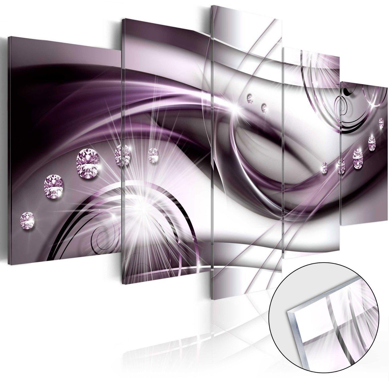 Obraz na szkle akrylowym - fioletowy blask [glass]