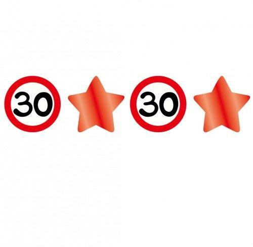 Girlanda znaki i gwiazdy na 30 urodziny Znak