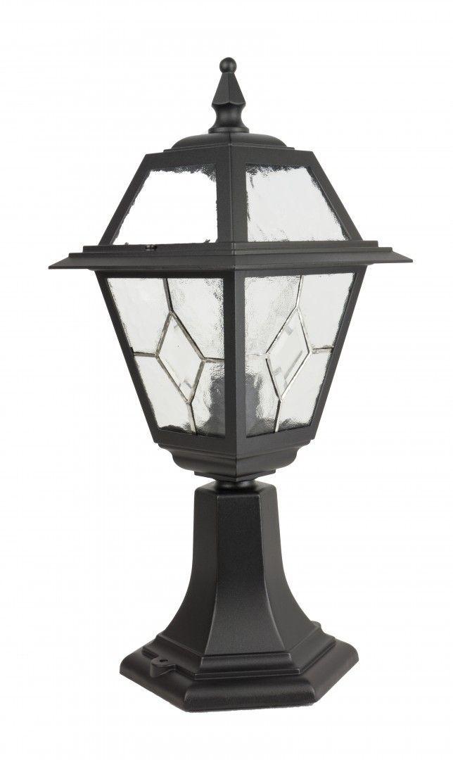 SU-MA Witraż K 4011/1/N lampa stojąca czarna E27 IP43 47cm