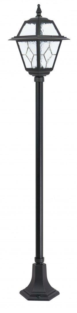 SU-MA Witraż K 5002/1 N lampa stojąca czarna E27 IP43 160cm