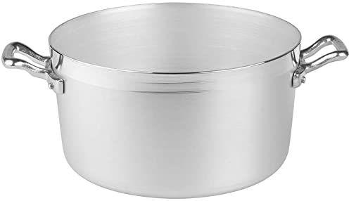 Pentole Agnelli Rondel z aluminium, BLTF z 2 uchwytami ze stali nierdzewnej, srebrny 3,3 litra srebrny / czarny