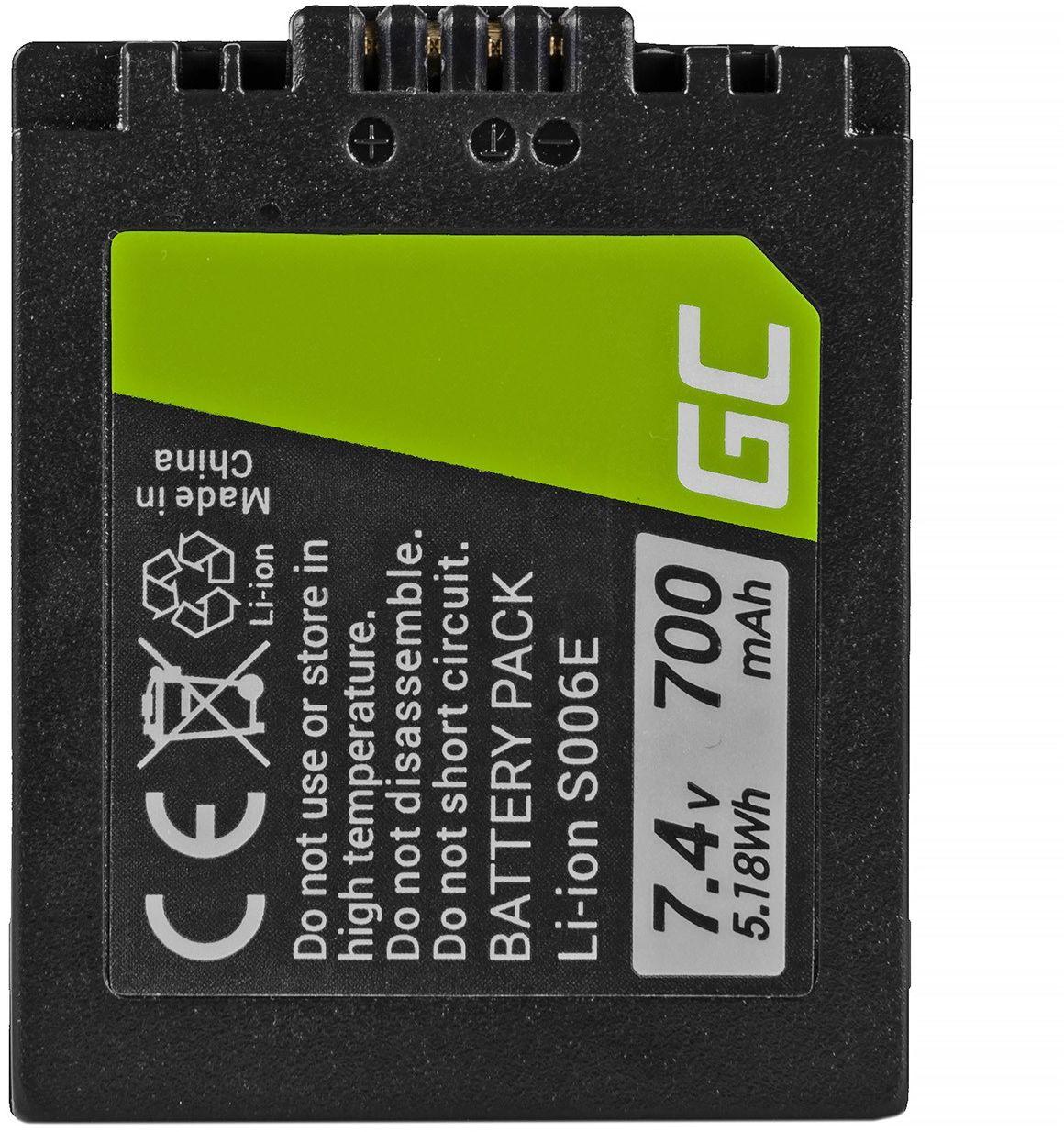 Akumulator Bateria Green Cell  CGR-S006E do Panasonic Lumix DMC FZ7 FZ8 FZ8S FZ8K FZ18 FZ28 FZ7K FZ30 FZ38 FZ50 7.4V 700mAh