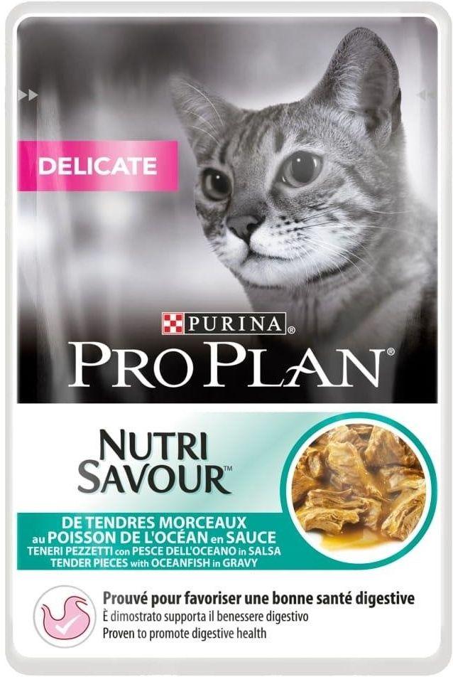 Purina Pro Plan Nutri Savour 85g DELICATE Ryba
